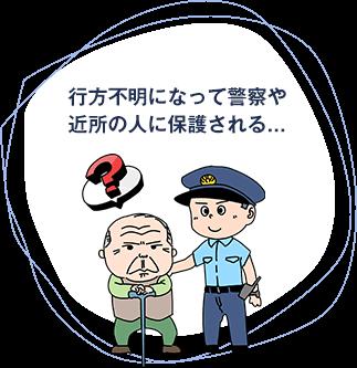 行方不明になって警察や近所の人に保護される